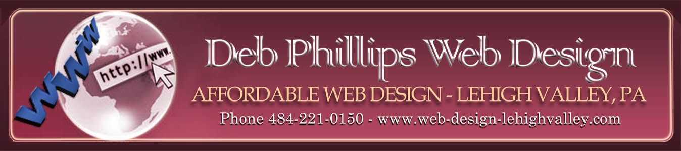 Deb Phillips Web Design - Affordable Web Design - Lehigh Valley, PA